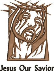 Jesus Our Savior embroidery design