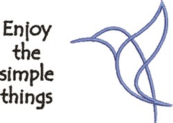 Enjoy Simple Things embroidery design