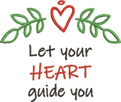 Heart Guide You embroidery design
