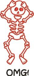 OMG Skeleton embroidery design