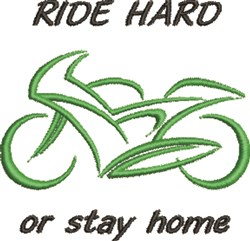 Ride Hard embroidery design