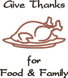 Food & Family embroidery design