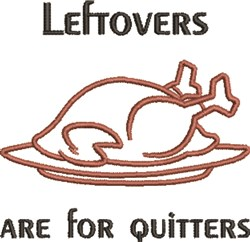 Leftovers embroidery design
