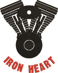 Iron Heart embroidery design