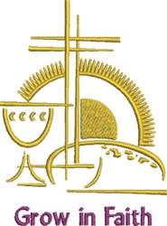 Grow In Faith embroidery design