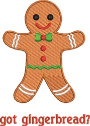 Got Gingerbread embroidery design