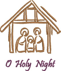 O Holy Night embroidery design