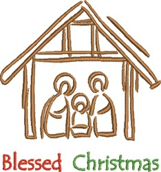 Blessed Christmas embroidery design