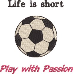 Play With Passion embroidery design