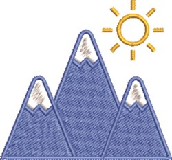 Winter Mountains embroidery design