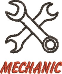 Mechanic Wrenches embroidery design