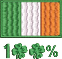 100% Irish embroidery design