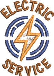 Electric Service embroidery design
