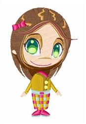Brunette Girl embroidery design