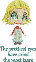 The Prettiest Eyes embroidery design