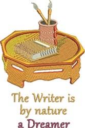 Writer Dreamer embroidery design