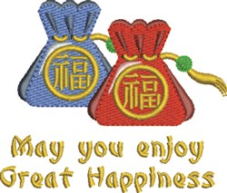 Great Happiness embroidery design