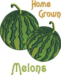 Home Grown Melons embroidery design