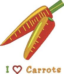 I Heart Carrots embroidery design
