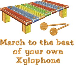 Your Xylophone embroidery design