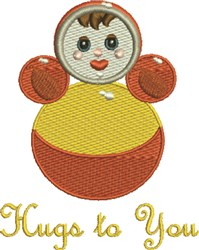 Doll Hugs embroidery design