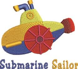 Submarine Sailor embroidery design