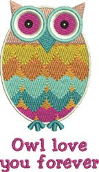 Owl Love embroidery design