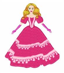 Princess Doll embroidery design