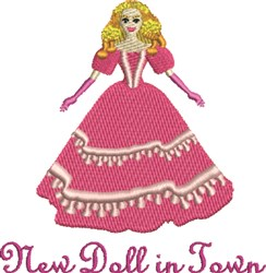 New Doll embroidery design