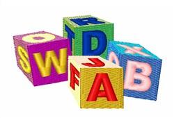 Letter Blocks embroidery design