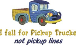 Truck Pickup Lines embroidery design