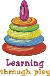 Through Play embroidery design