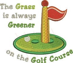 Grass Is Greener embroidery design
