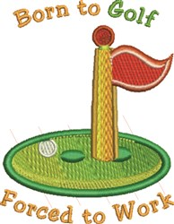 Born To Golf embroidery design