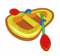 Paddle Raft Boat embroidery design