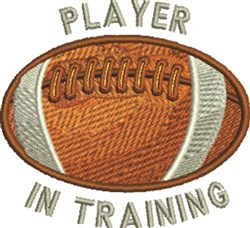 Player In Training embroidery design
