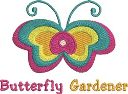 Butterfly Gardener embroidery design