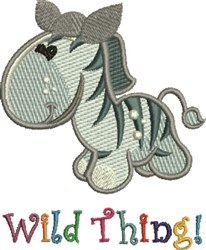 Wild Thing embroidery design