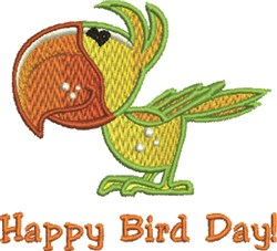 Parrot Day embroidery design