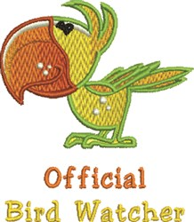 Parrot Official embroidery design