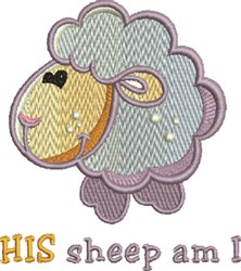 His Sheep embroidery design