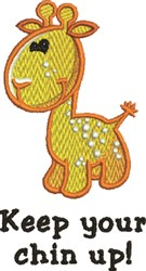 Keep Chin Up embroidery design