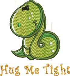 Snake Hug embroidery design