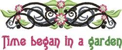 In A Garden embroidery design