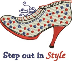 Step Out embroidery design