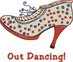 Out Dancing embroidery design