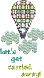 Get Carried Away embroidery design