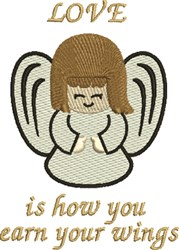 Love Angel Wings embroidery design
