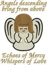Angel Descending embroidery design