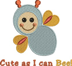 Baby Bee Cute embroidery design